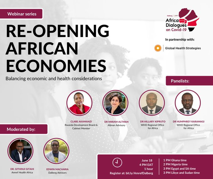 Re-opening African Economies while balancing public health measures